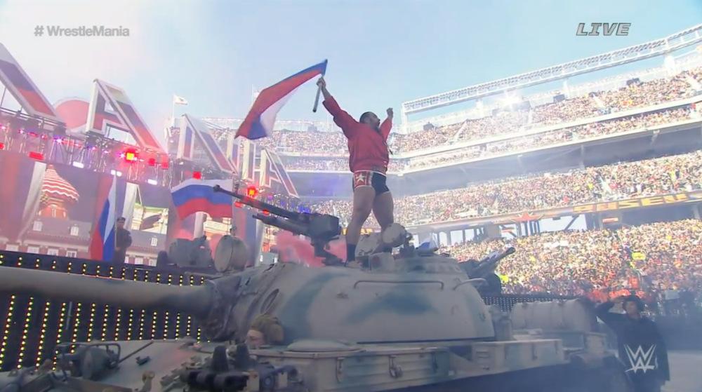 WrestleMania-31-Rusev-Tank