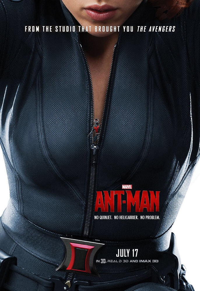 Ant man in black widow cleavage