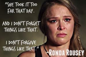 ronda cries