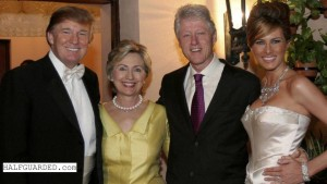 Trump with Clintons