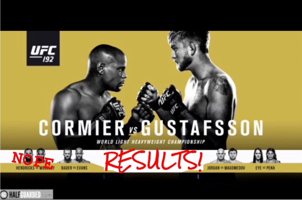 UFC 192 Free Stream of Consciousness