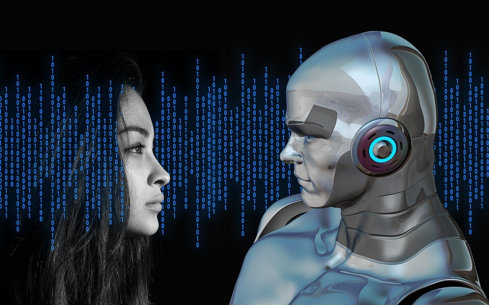 AI and woman robot