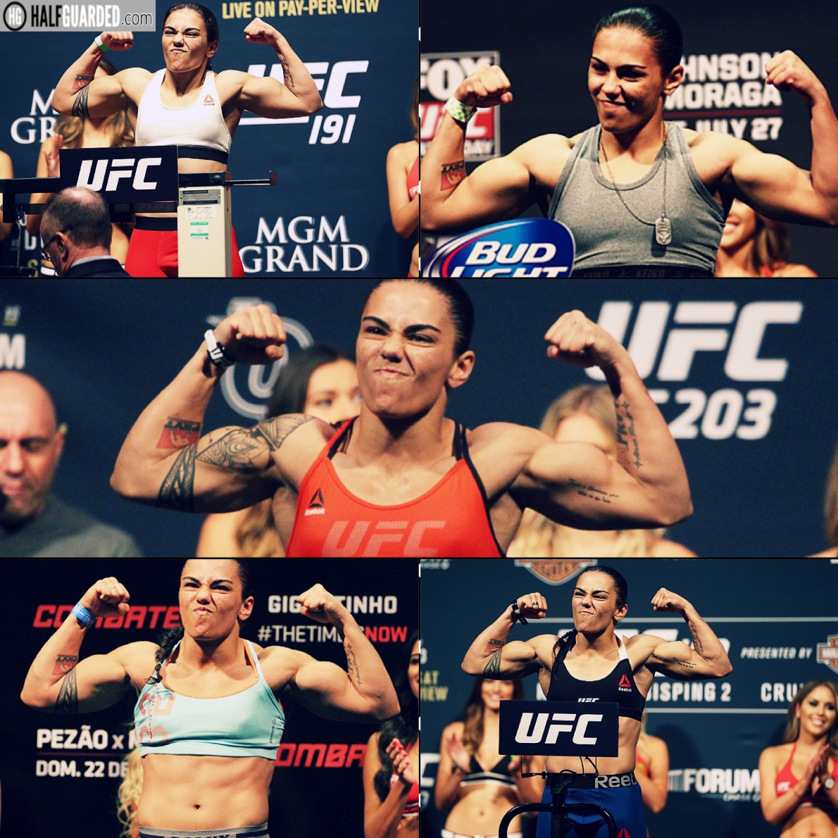 jessica andrade weigh in ufc 211 weigh in results and video