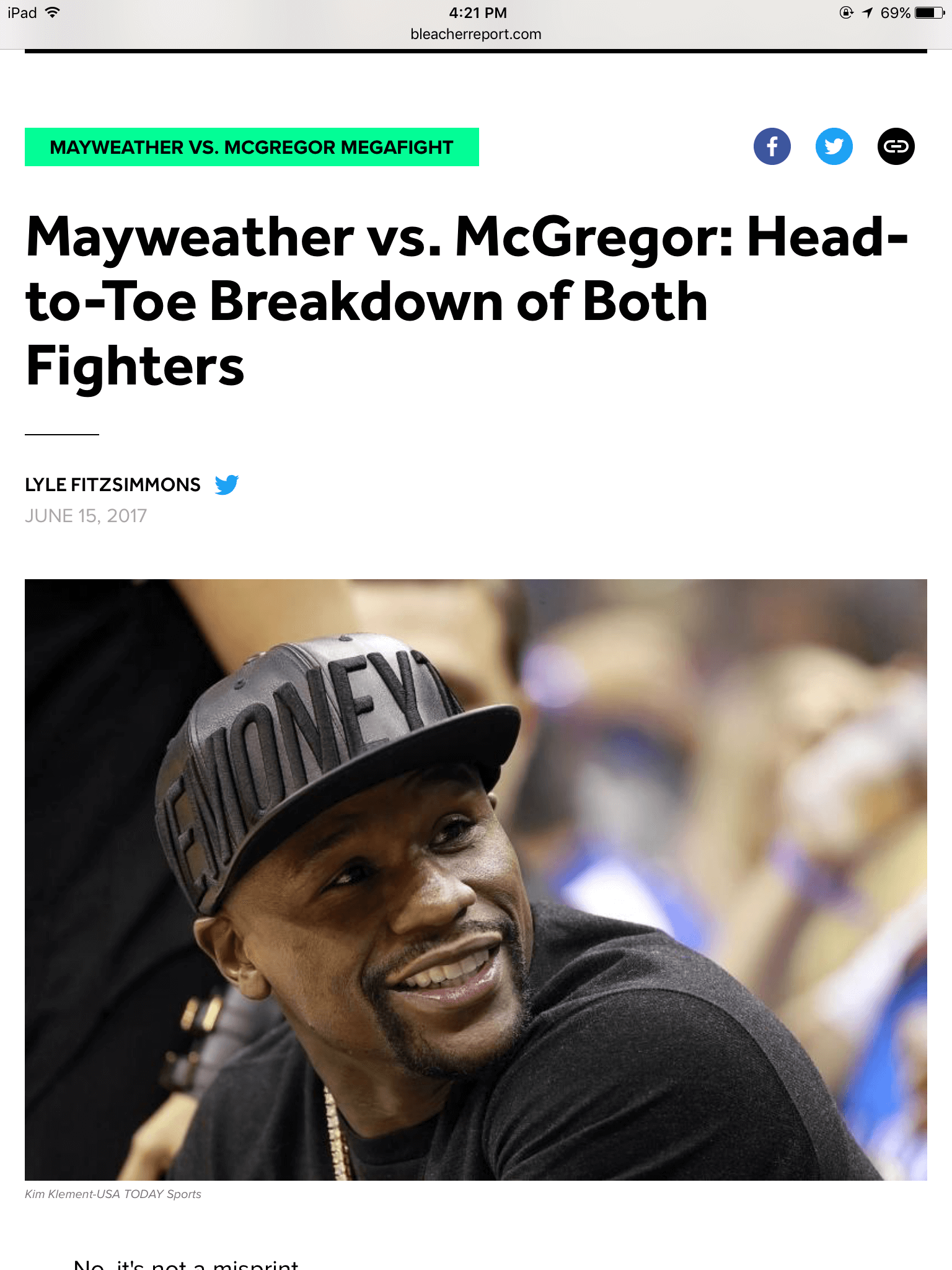 McGregor vs Mayweather Jr. Hot Take Tracker