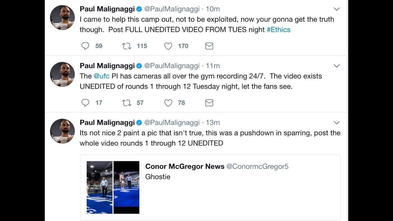 Conor hot take tweet paulie