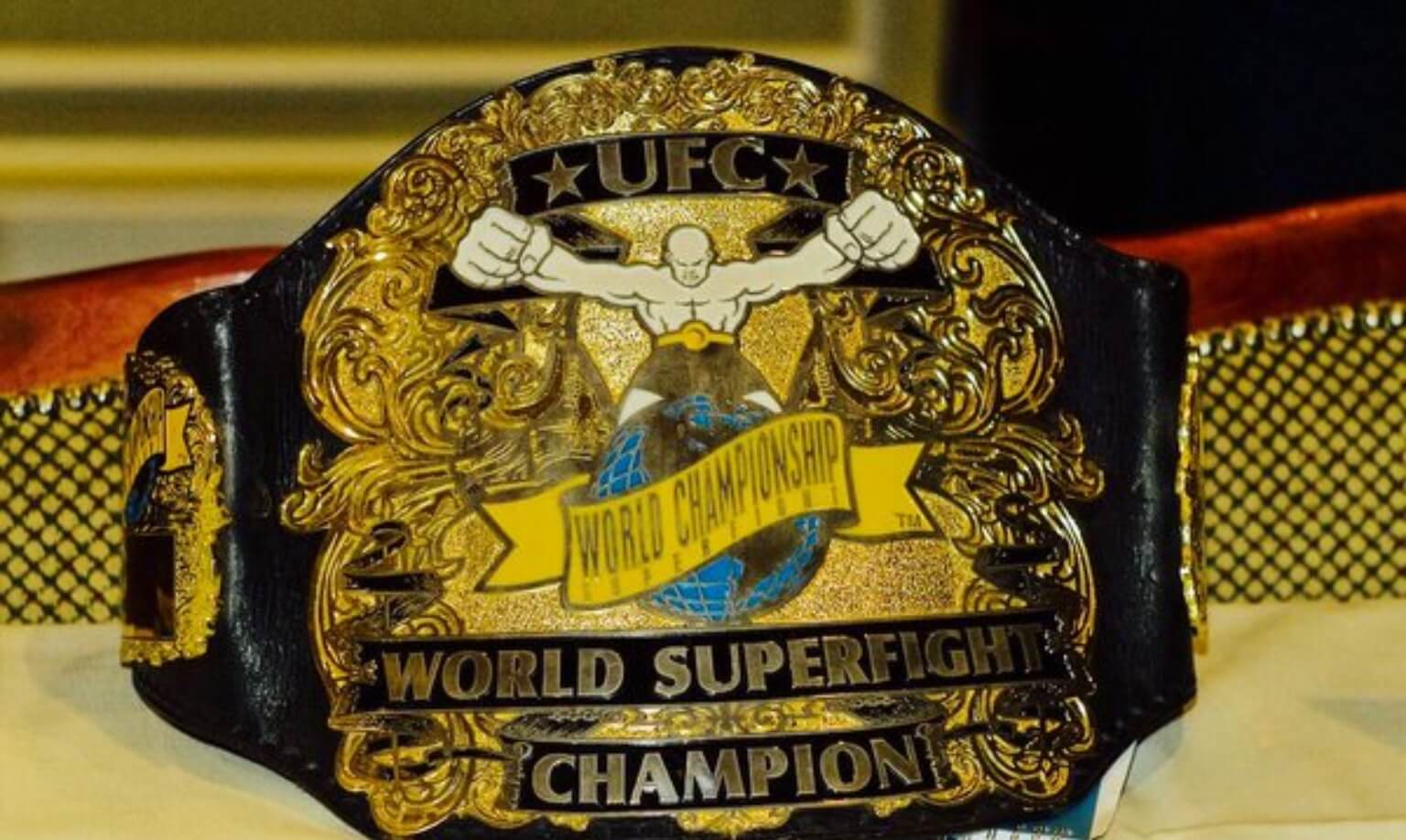 Ufc title belt super fight