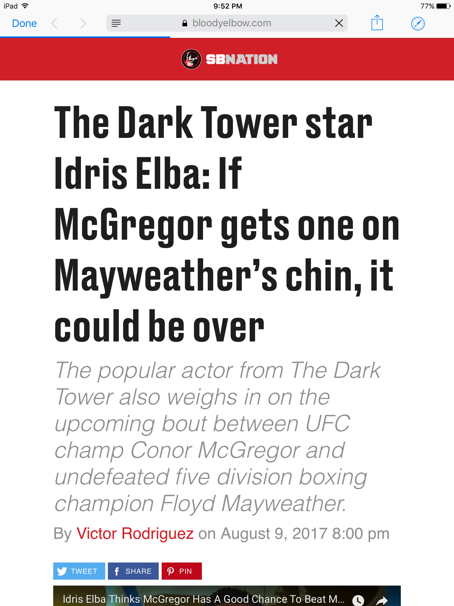 McGregor vs. mayweather hot take