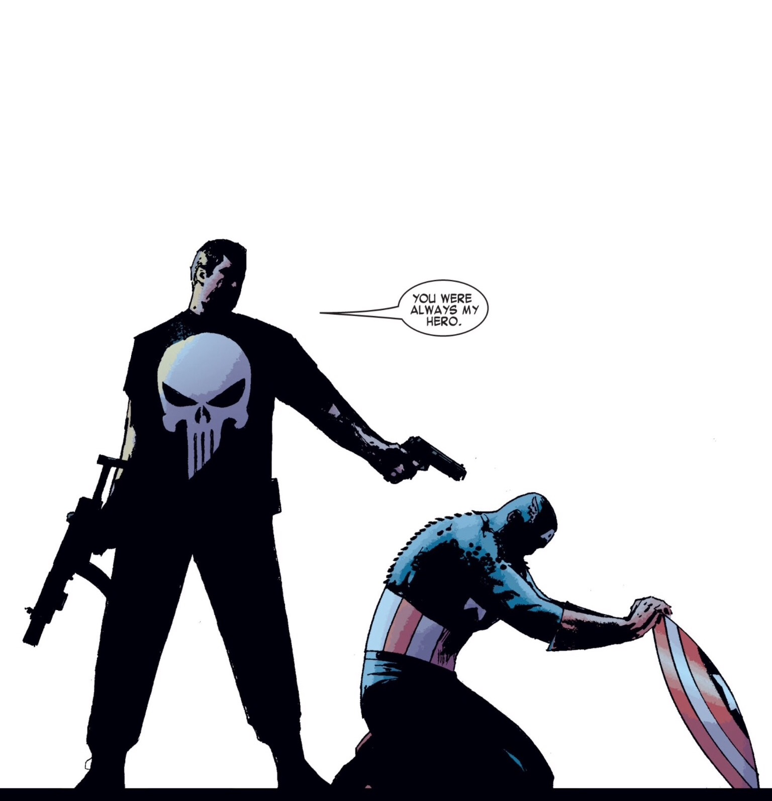 Punisher kills captain America