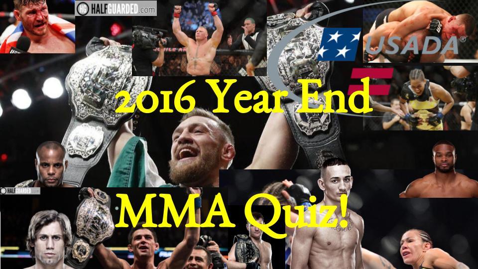 MMA Quiz 2016