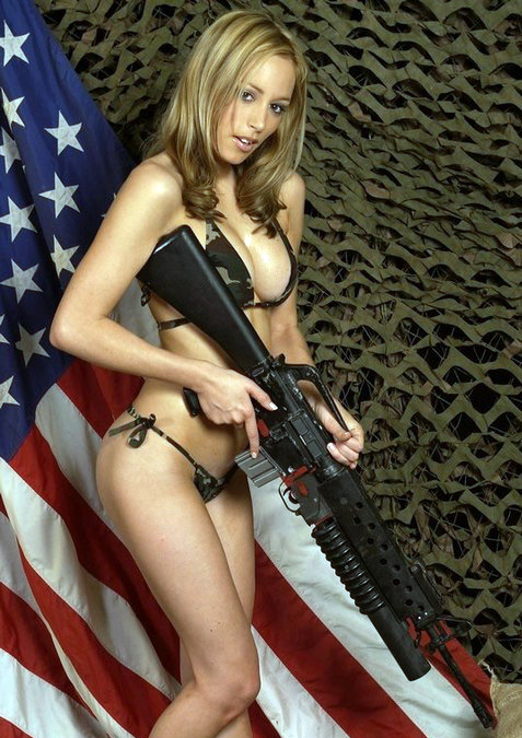 hot chick with gun