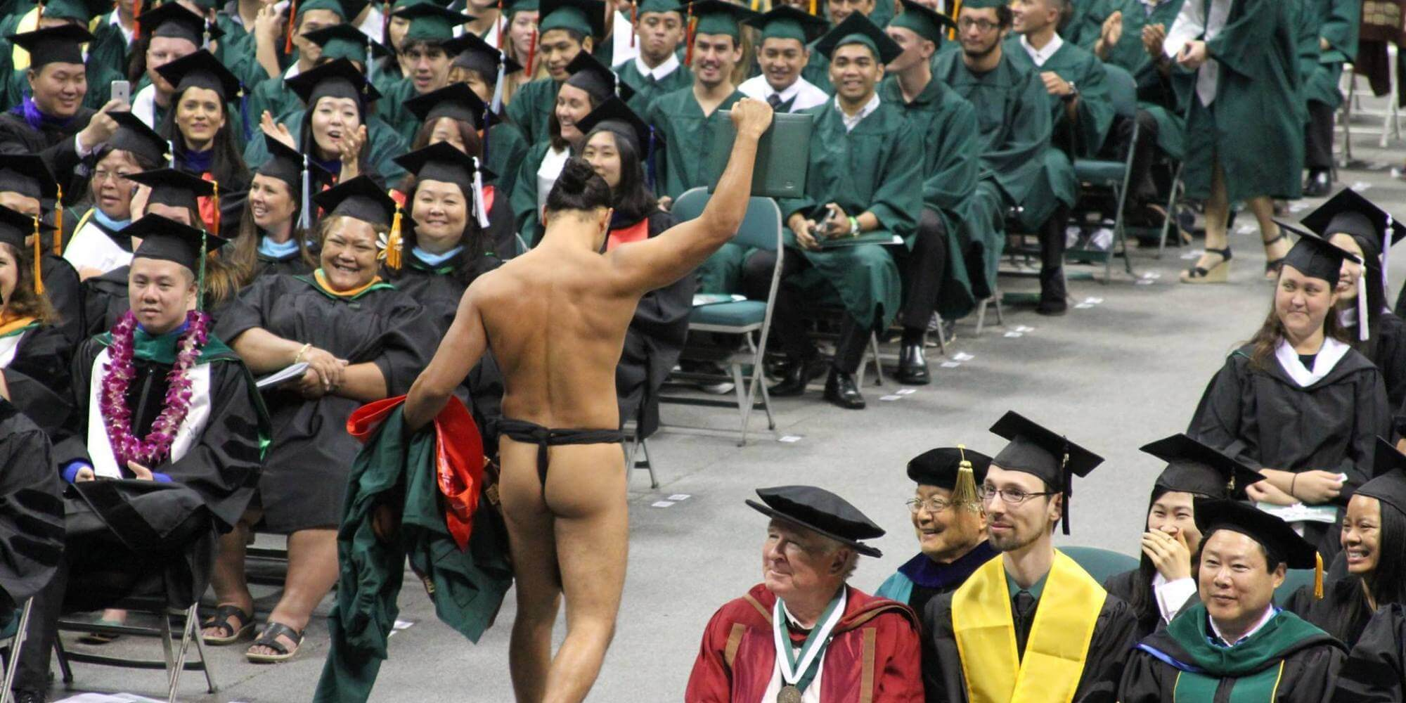 Naked at graduation
