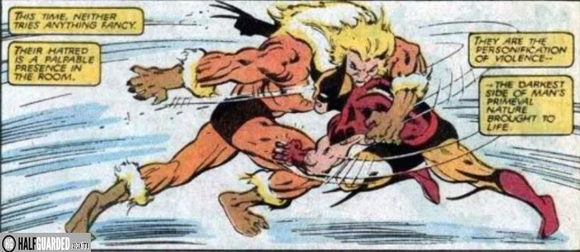 wolverine vs sabertooth - best comic book fights