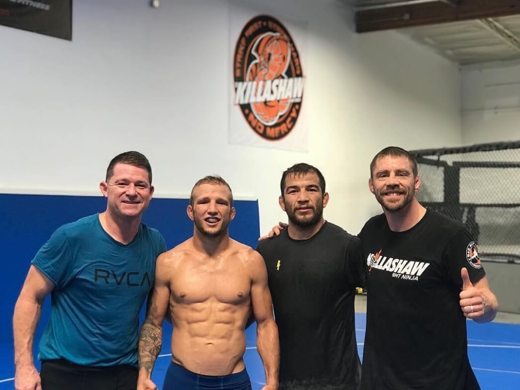 tj dillashaw with duane bang ludwig